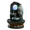 Lighted Crystal Ball Stone Finish Indoor Water Fountain